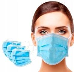 artykuły higieniczne maseczka ochronna na twarz